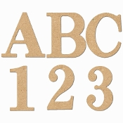 Classic Style Wooden MDF Letters & Numbers