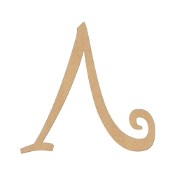 Greek Curly Letter Lambda