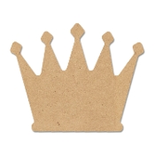 Shapes - Crown (MDF) 10.3x8.3