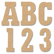 "5"" Letters, Numbers & Symbols - Block Style (MDF) Upper Case Wood Letters"