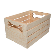 Dog Bone Wooden Crate